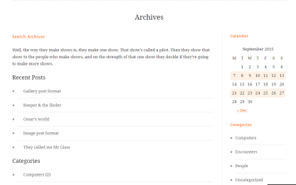 Duet- Archives page built with archive page template
