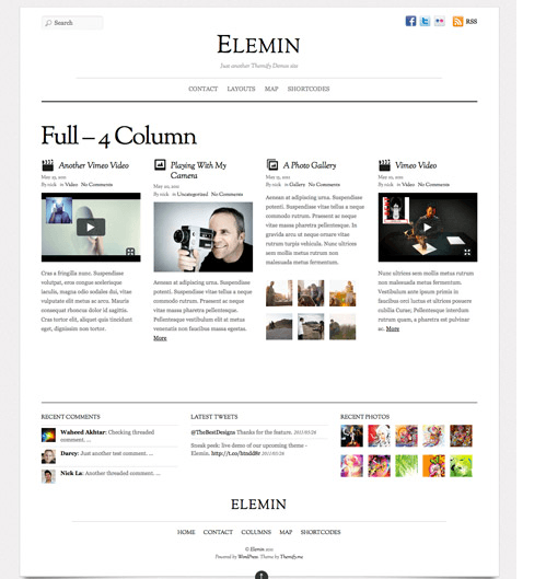 Elemin – New Elegant tumblr like theme