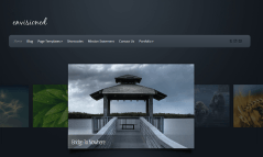 Envisioned- Front page designed with beautiful portfolio slider