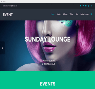 Event- Responsive WordPress Theme for music, event, and entertainment sites