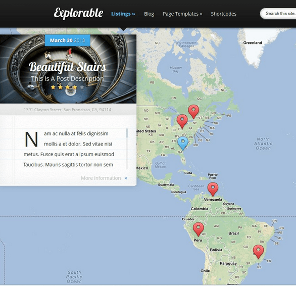 Explorable – Location based theme