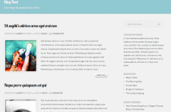 Feather- Classic blog page template