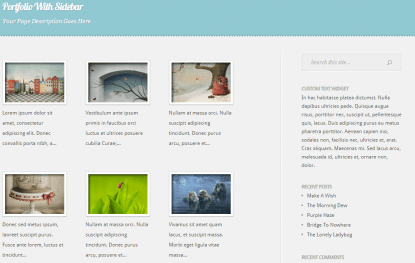 Feather- Portfolio with right sidebar