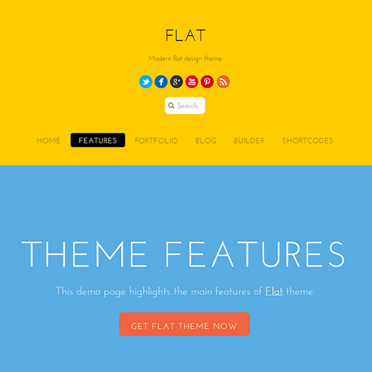 Flat – Beautiful, modern, bold and colorful theme