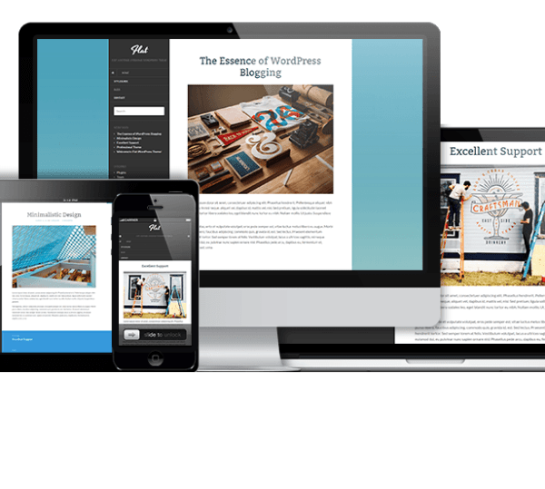 Flat – Free Responsive Blog WordPress theme