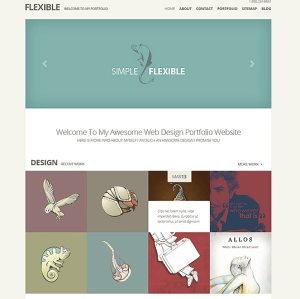 Flexible - Best minimal portfolio theme