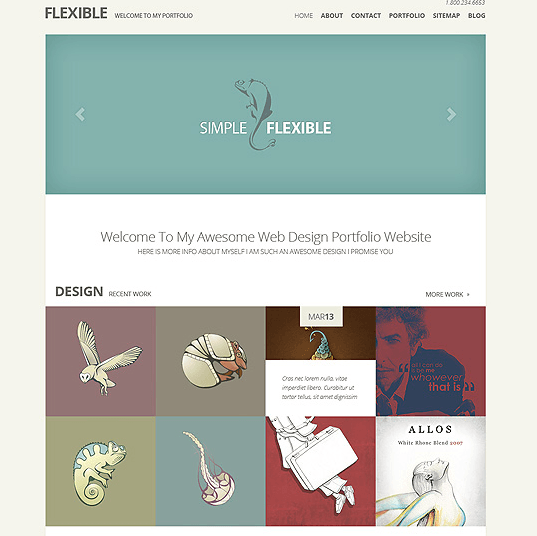 Flexible – Best minimal portfolio theme