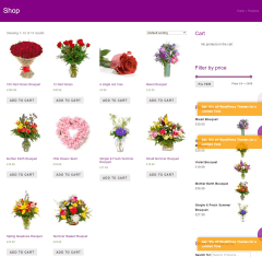 Florists Pro- Shop page of this theme