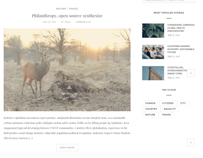 Forest Blog Epilog Theme