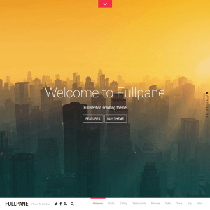 Fullpane- Responsive WordPress theme for Blog, Portfolio sites