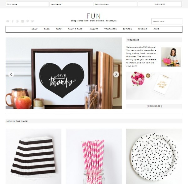 Fun WordPress Theme- A Two way theme for Shop and Blog