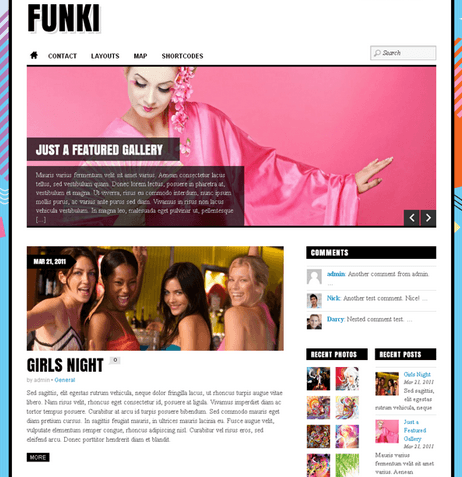 Funki – Fun and Interesting theme.