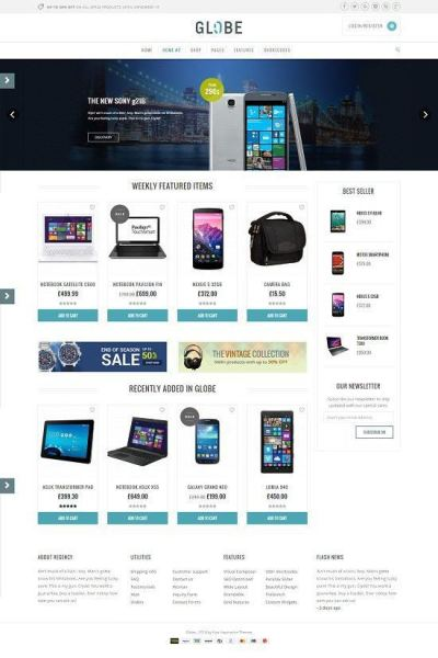 GLOBE-FREE-HI-TECH-WORDPRESS-E-COMMERCE-THEME