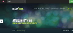 Home page of Fusion theme