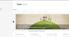 Home page of Trim theme