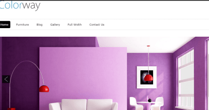 Homepage of ColorWay theme