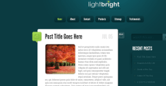 Homepage of LightBright Theme