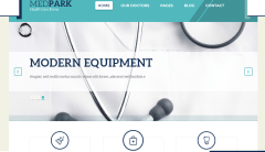 Homepage of Medpark theme