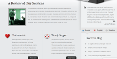 Homepage of MyProduct theme