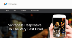 Homepage of Vantage theme