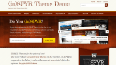 Homepage of (in)SPYR Theme