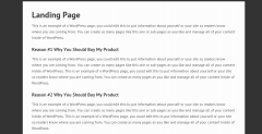 Landing page shown by Streamline Pro theme