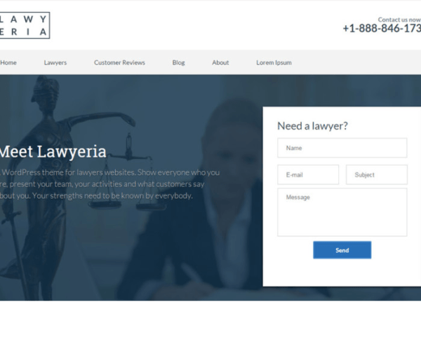 Lawyeria – A theme for lawyers