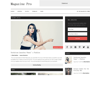 Magazine Pro is a modern responsive magazine WordPress theme