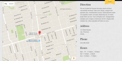 Map page of Shopo theme