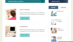 Medpark theme offering services