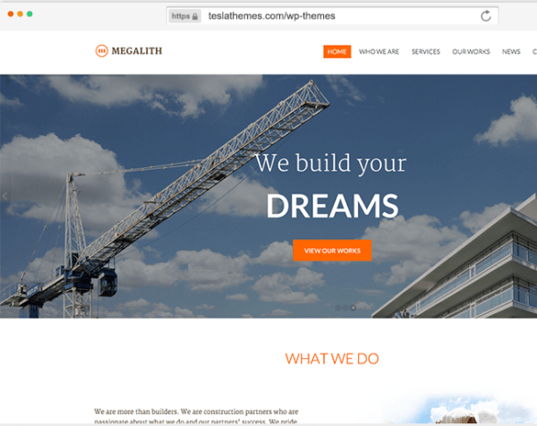 Megalith - Construction WordPress Theme