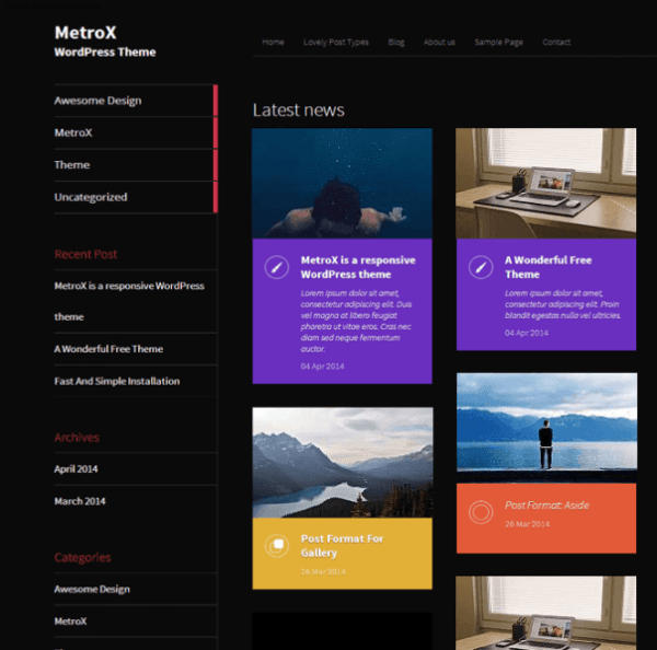 MetraX-Wordpress-theme