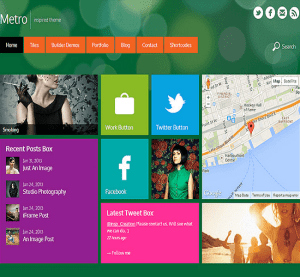 Metro- A responsive WordPress theme inspired from Windows 8