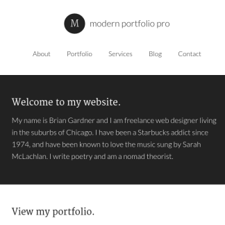 Modern Portfolio Pro WordPress Theme