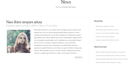 Modest- Classic blog page layout