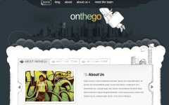 OnTheGo- Front page of site containing slider with tabs