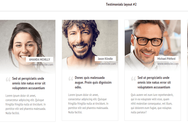 Panthea- Two different layout for testimonials
