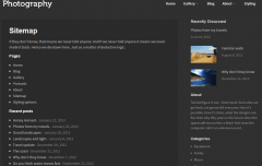 Photography- Sitemap page built with this theme