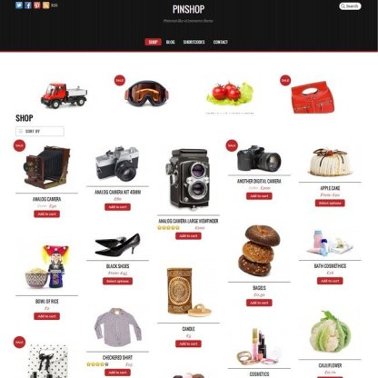 Pinshop- Responsive Woocommerce Site with several skins