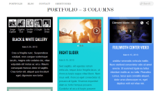 Portfolio 3 Column Page of Bold theme