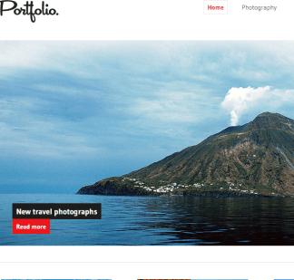 Portfolio- Responsive WordPress theme for photography portfolio