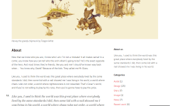 Portfolio- Simple page layout with sidebar at right