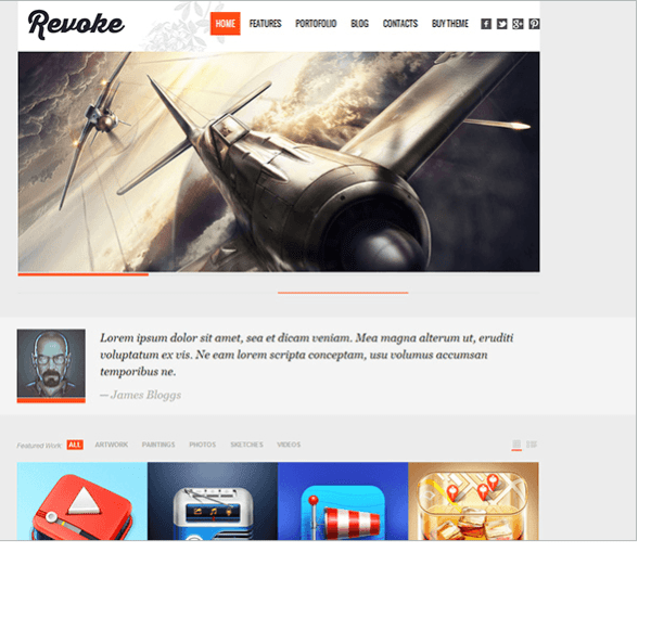 Revoke is a Premium WordPress Theme with clean and modern design