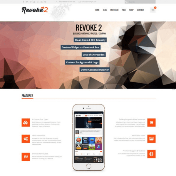 Revoke2 – a brand new beautiful WordPress theme with lots of great features.