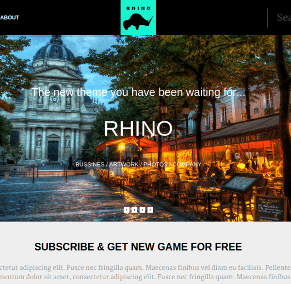 Rhino – The Gaming WordPress Theme