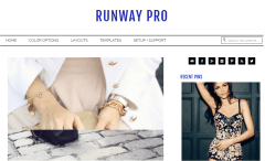 Runway Pro theme color changed