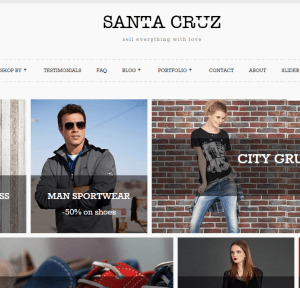 Santa Cruz- An elegant Woo Commerce theme