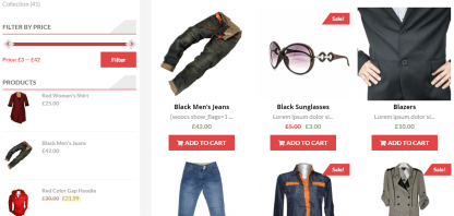 Shop page of AccessPress store theme