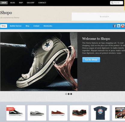 Shopo - An eCommerce theme designed for larger shops with large selection of products
