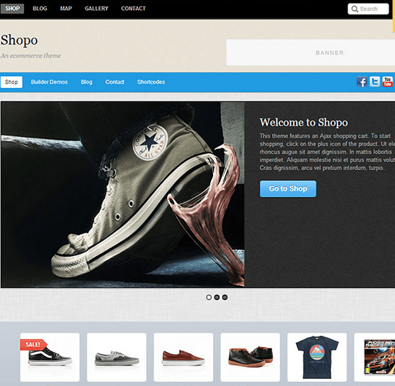 Shopo – An eCommerce theme designed for larger shops with large selection of products